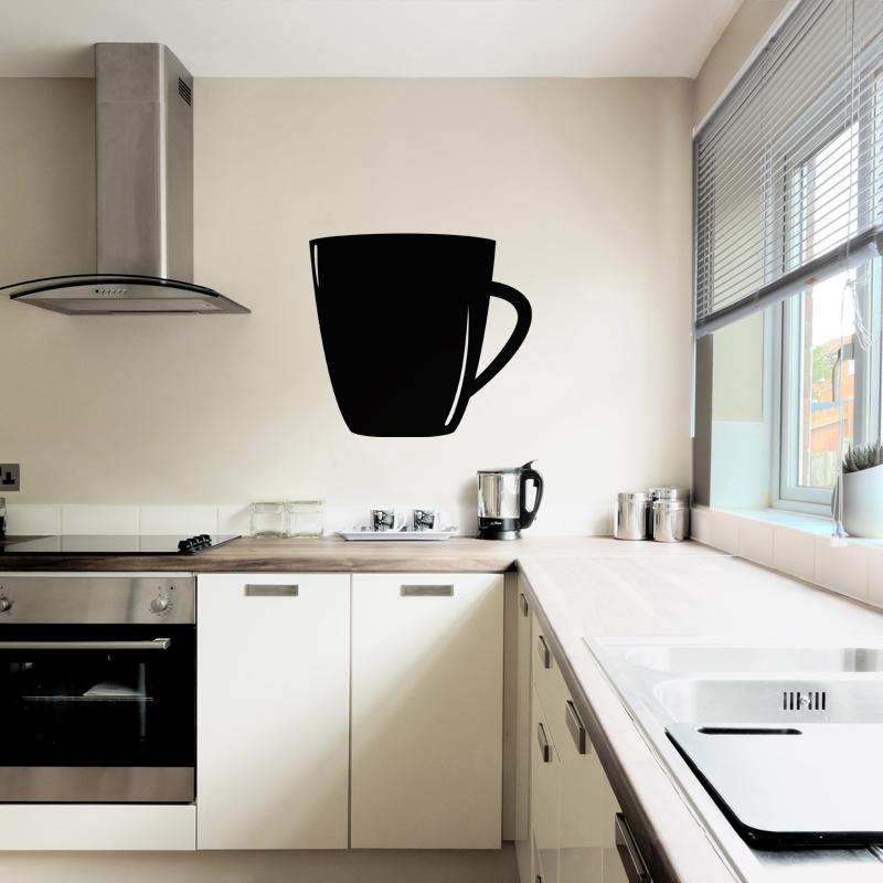 sticker ardoise tasse de caf stickers cuisine ambiance sticker. Black Bedroom Furniture Sets. Home Design Ideas