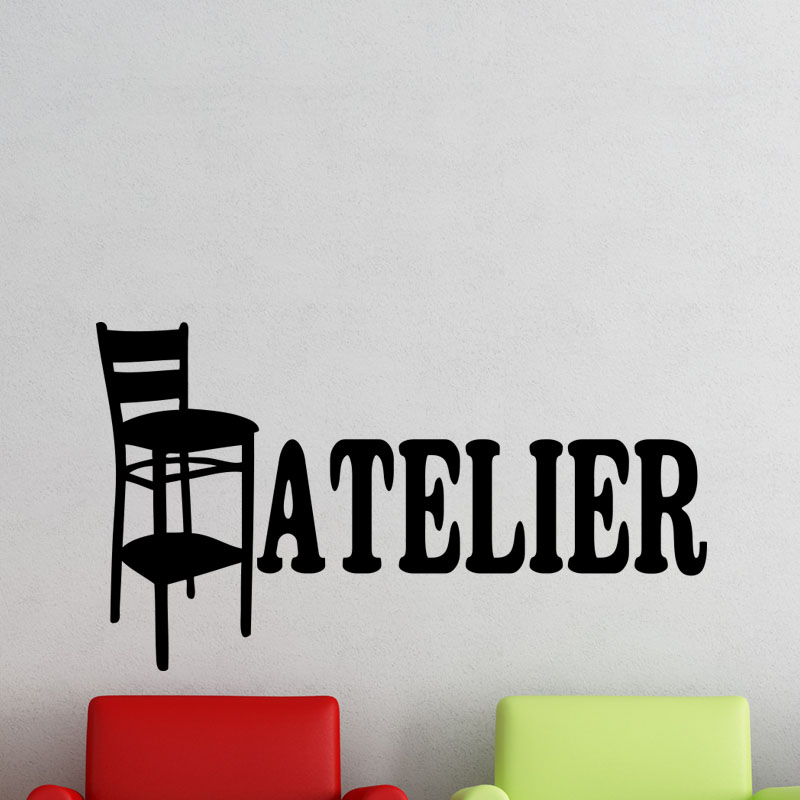 sticker atelier stickers citations anglais ambiance sticker. Black Bedroom Furniture Sets. Home Design Ideas