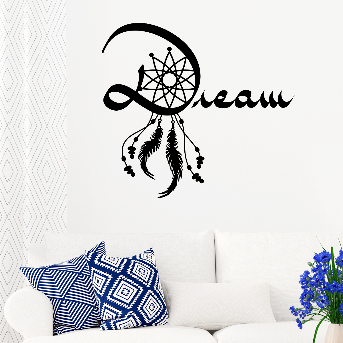 Sticker attrape r ve dream stickers art et design for Autocollant mural texte