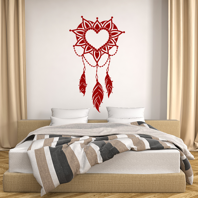sticker attrape r ve romantique stickers chambre t tes de lit ambiance sticker. Black Bedroom Furniture Sets. Home Design Ideas