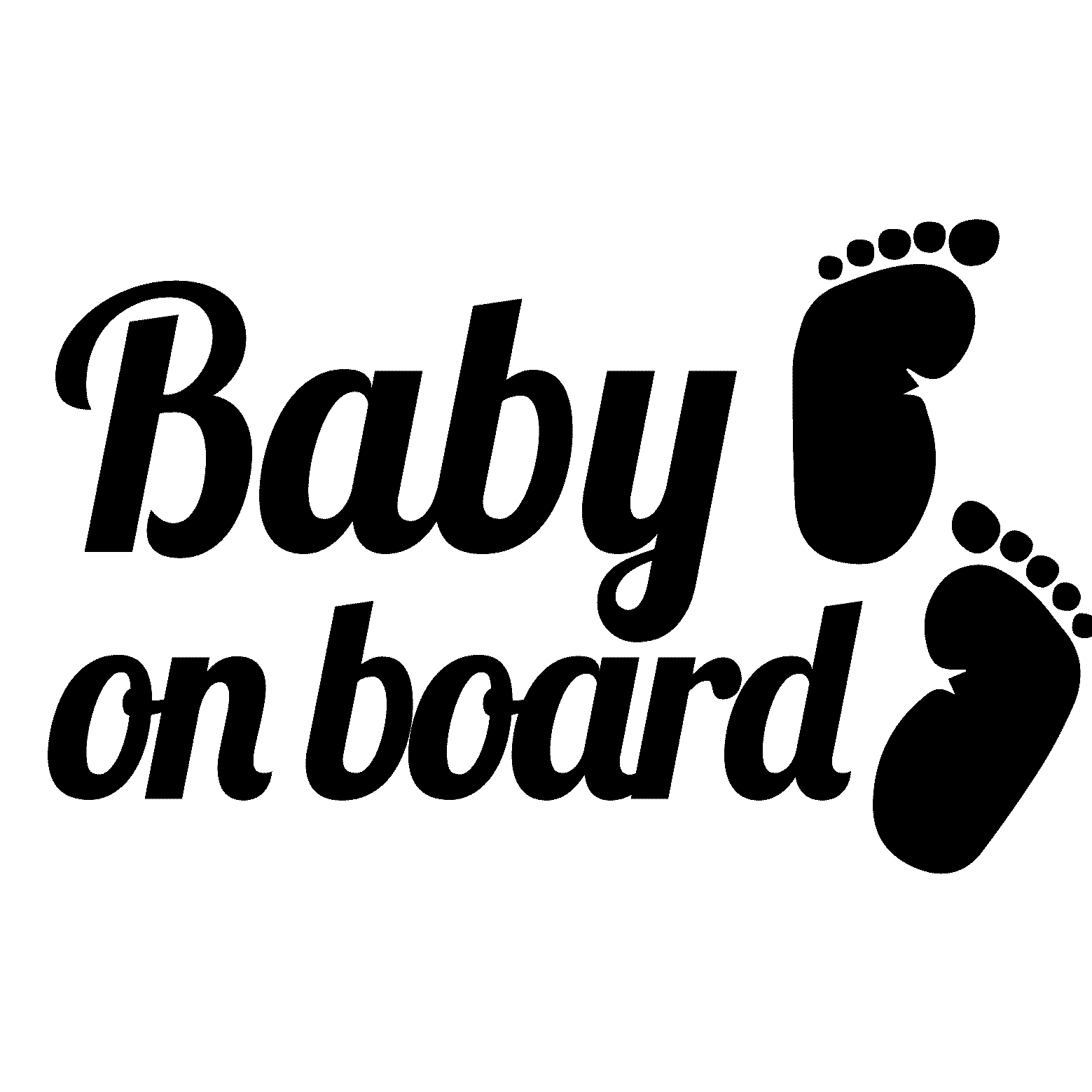 Sticker auto Baby on board et pieds Stickers Auto Voitures