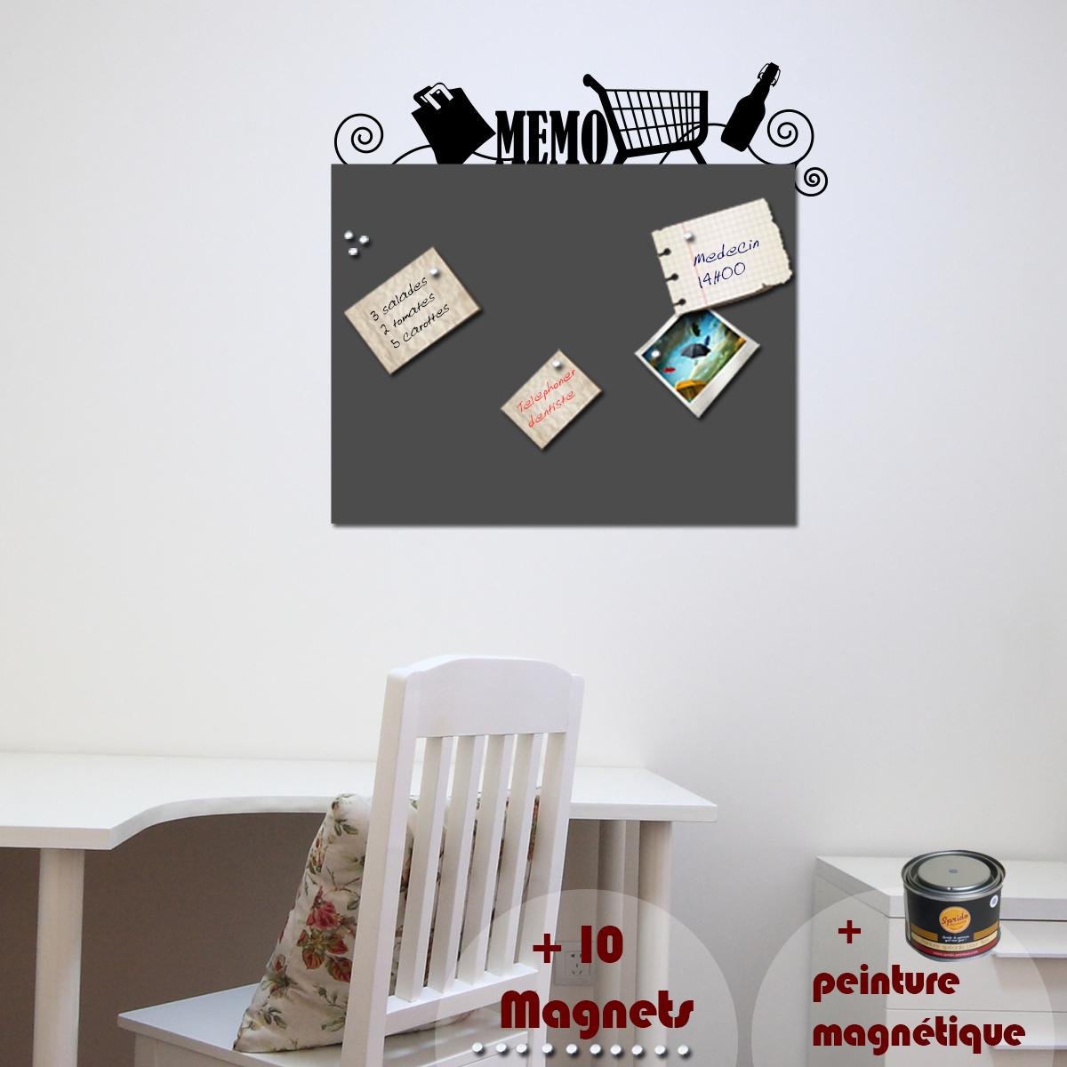 papier peint magn tique peinture magn tique avec sticker caddie ambiance. Black Bedroom Furniture Sets. Home Design Ideas