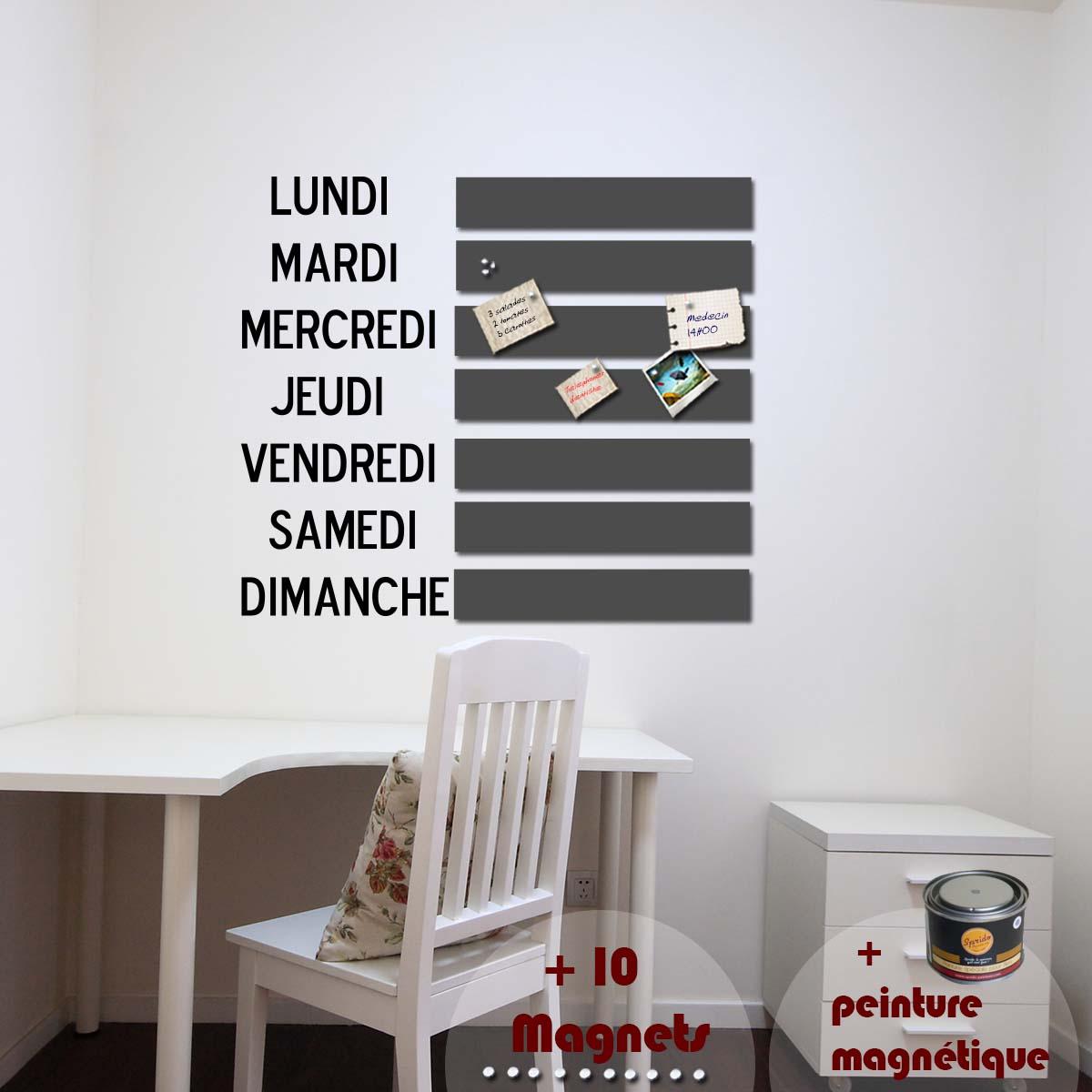 papier peint magn tique peinture magn tique avec sticker jours ambiance. Black Bedroom Furniture Sets. Home Design Ideas