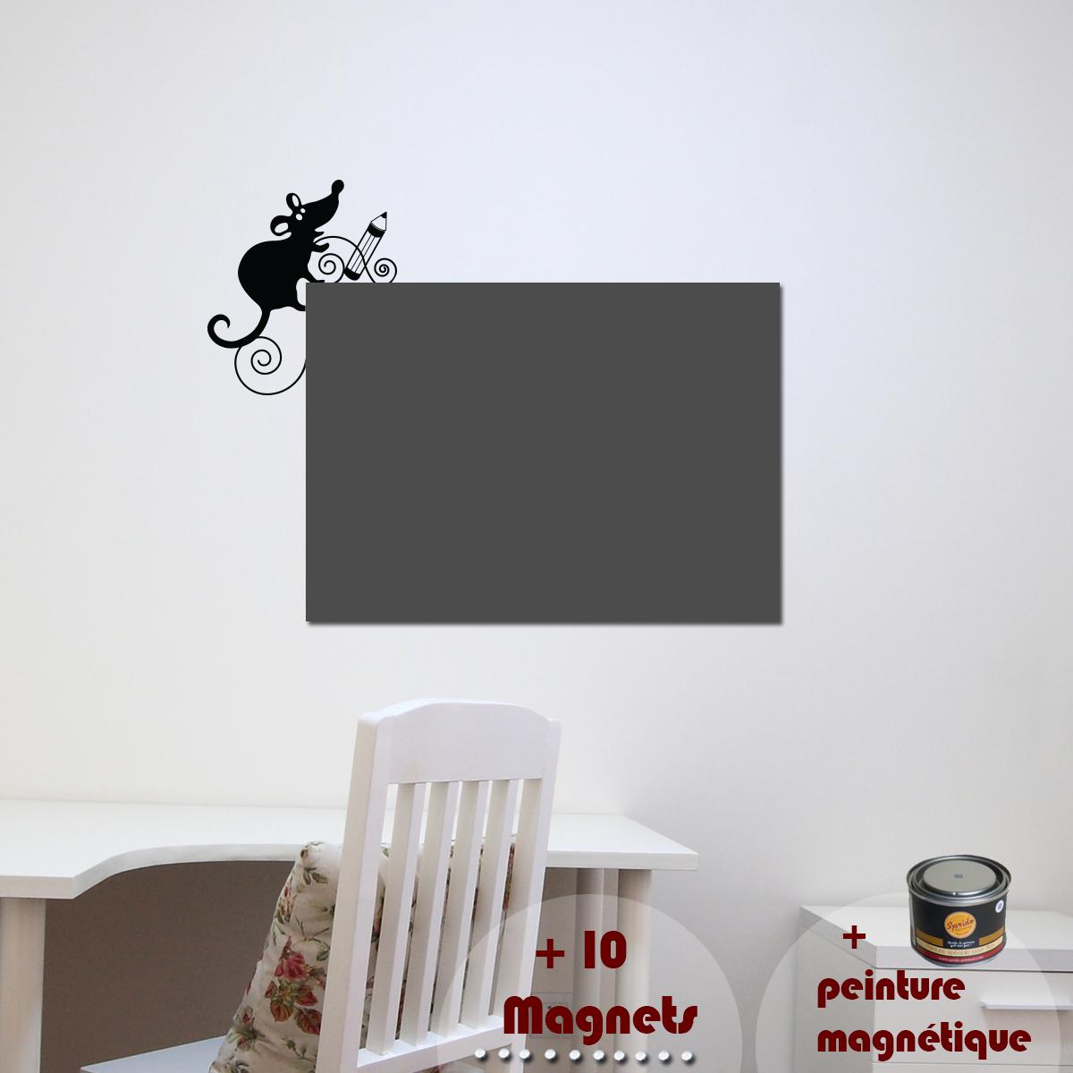papier peint magn tique peinture magn tique avec sticker souris ambiance. Black Bedroom Furniture Sets. Home Design Ideas