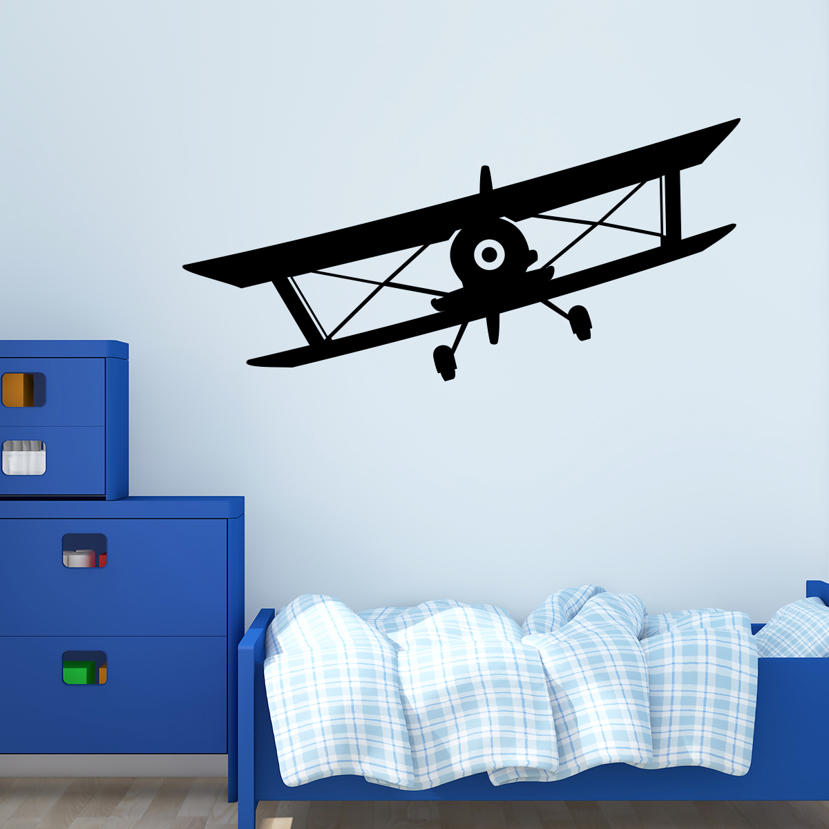 sticker avion voyageant stickers salle de jeux gar on. Black Bedroom Furniture Sets. Home Design Ideas