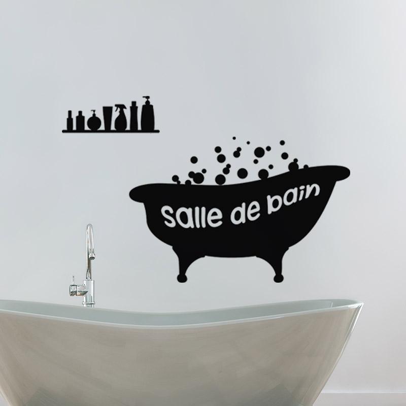 Sticker baignoire salle de bain stickers salle de bain - Stickers muraux pour salle de bain ...