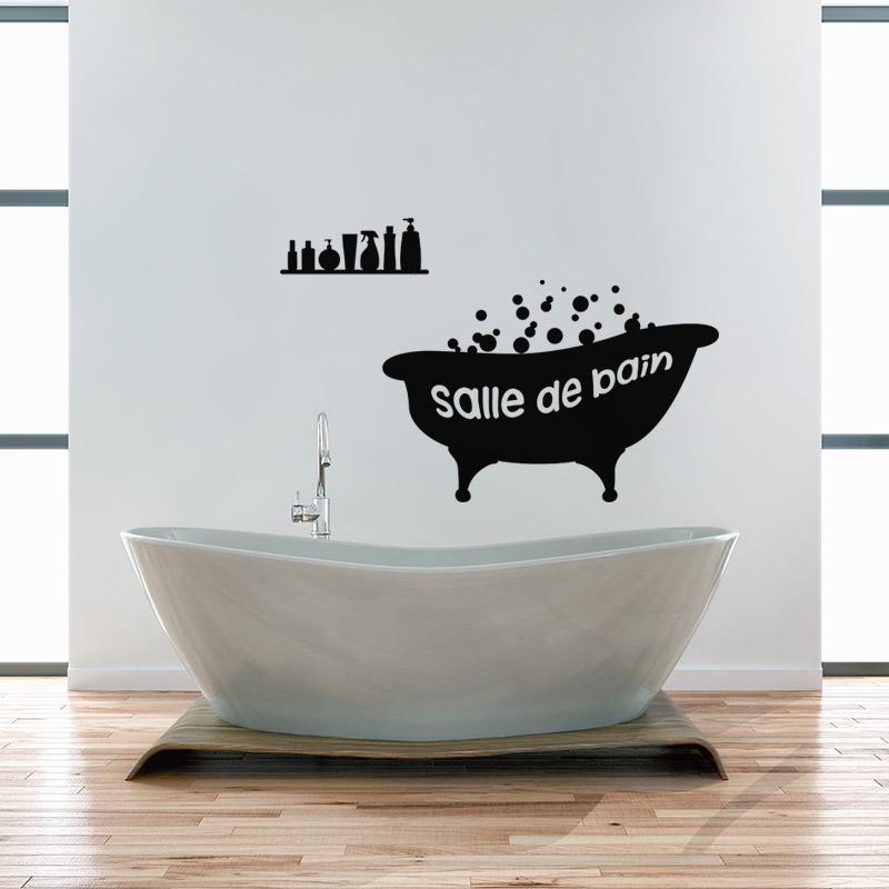 Sticker baignoire salle de bain stickers salle de bain for Stickers carrelage salle de bain