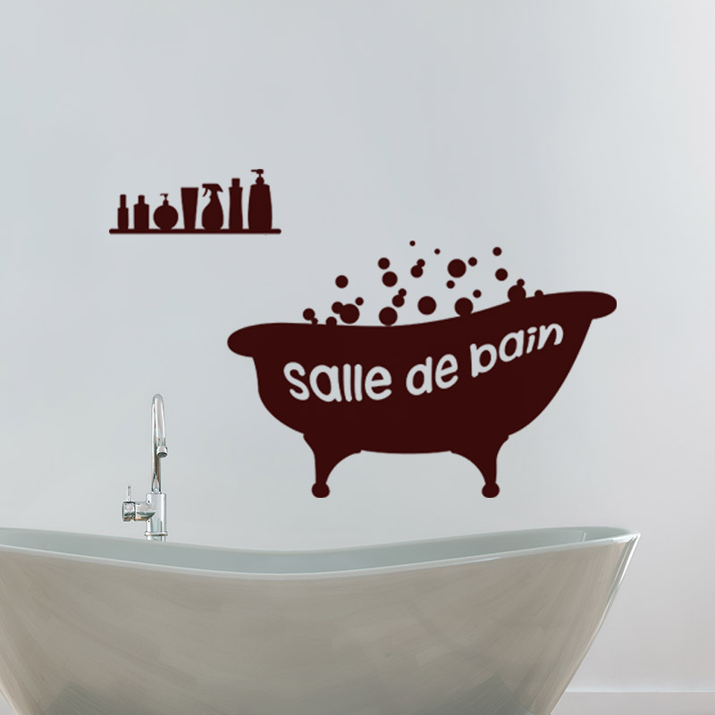 sticker baignoire salle de bain stickers salle de bain et wc salle de bain ambiance sticker. Black Bedroom Furniture Sets. Home Design Ideas