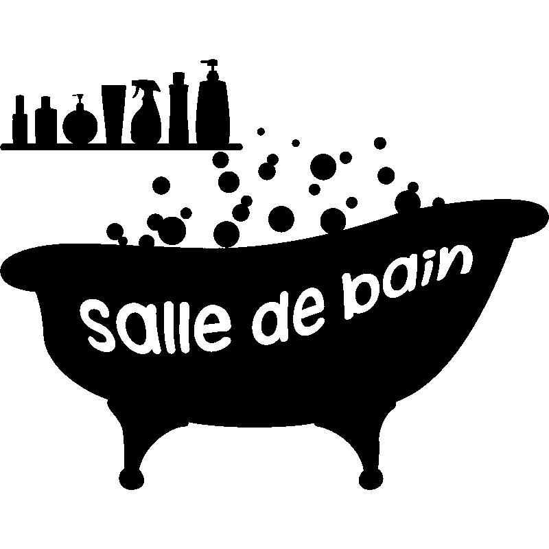 sticker baignoire salle de bain stickers salle de bain et wc salle de bain ambiance sticker. Black Bedroom Furniture Sets. Home Design Ideas