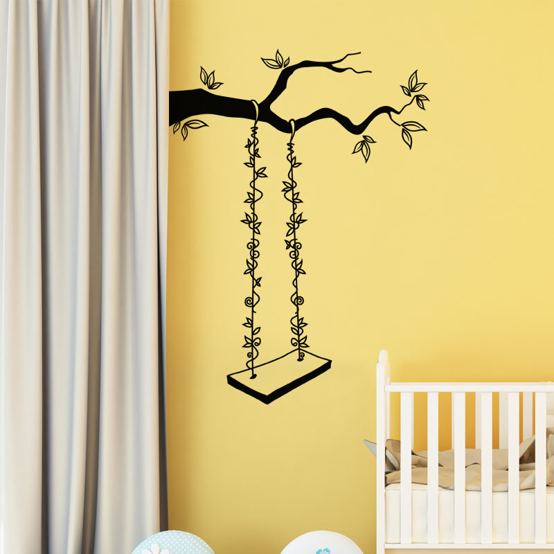 sticker balan oire fleurie stickers nature arbres ambiance sticker. Black Bedroom Furniture Sets. Home Design Ideas