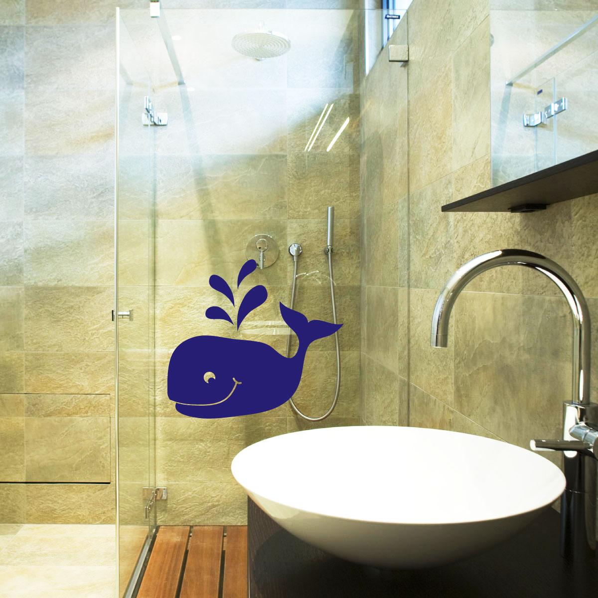 stickers muraux pour salle de bain sticker mural baleine. Black Bedroom Furniture Sets. Home Design Ideas
