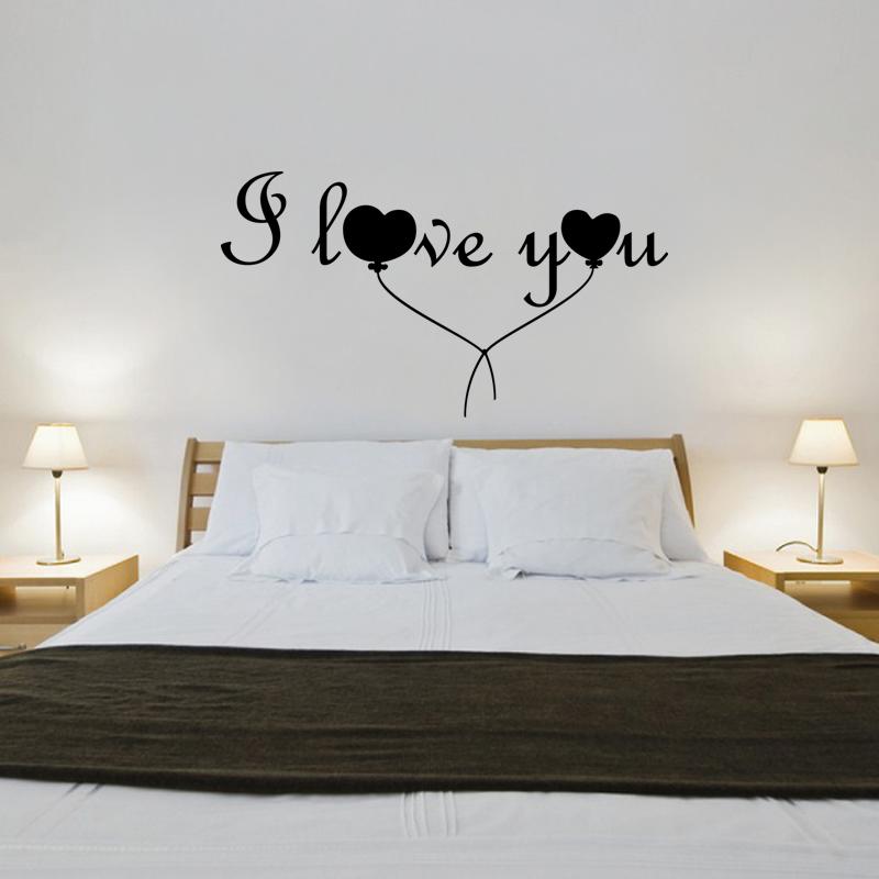 Stickers muraux amour sticker mural ballon love for Stickers chambre love