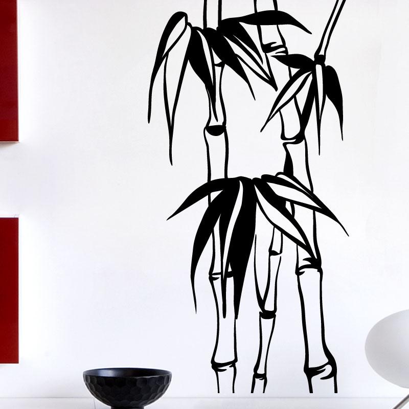 Stickers Muraux Fleurs - Sticker Bambou | Ambiance-Sticker.Com