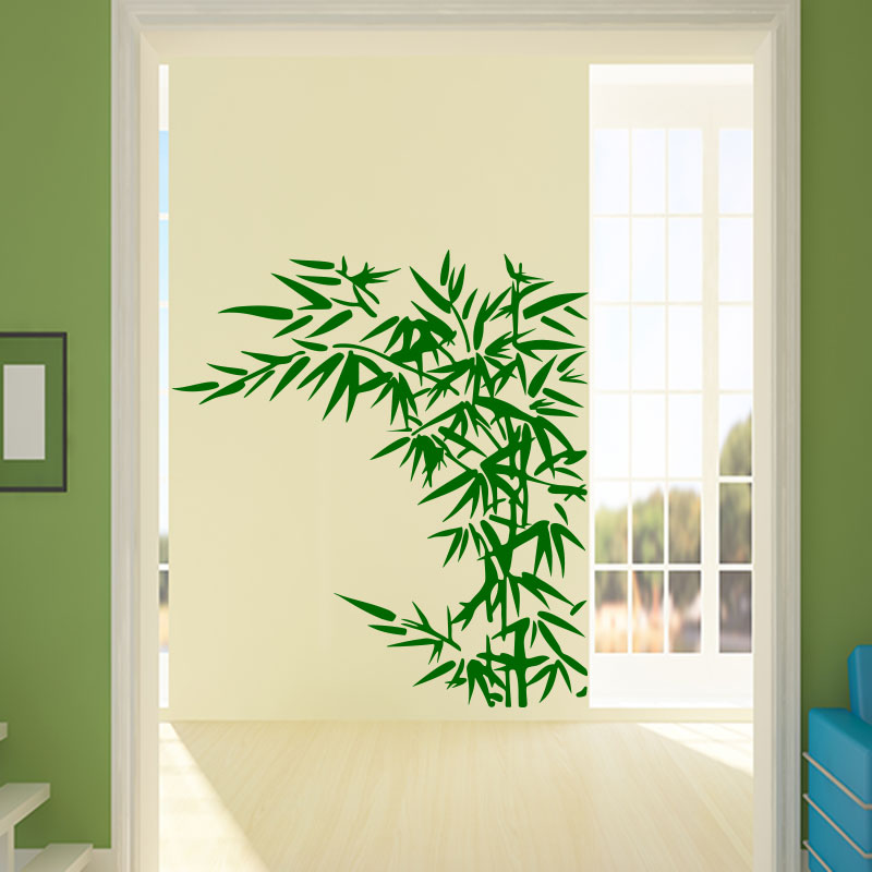 Sticker Bambou Feuillu – Stickers Nature Bambous - Ambiance-Sticker