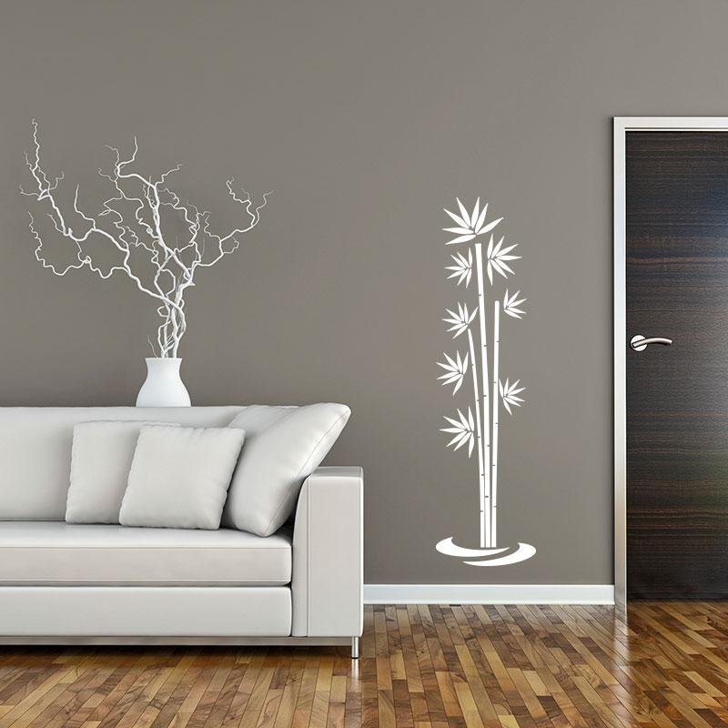 sticker bambou flottant sur l 39 eau stickers nature bambous ambiance sticker. Black Bedroom Furniture Sets. Home Design Ideas