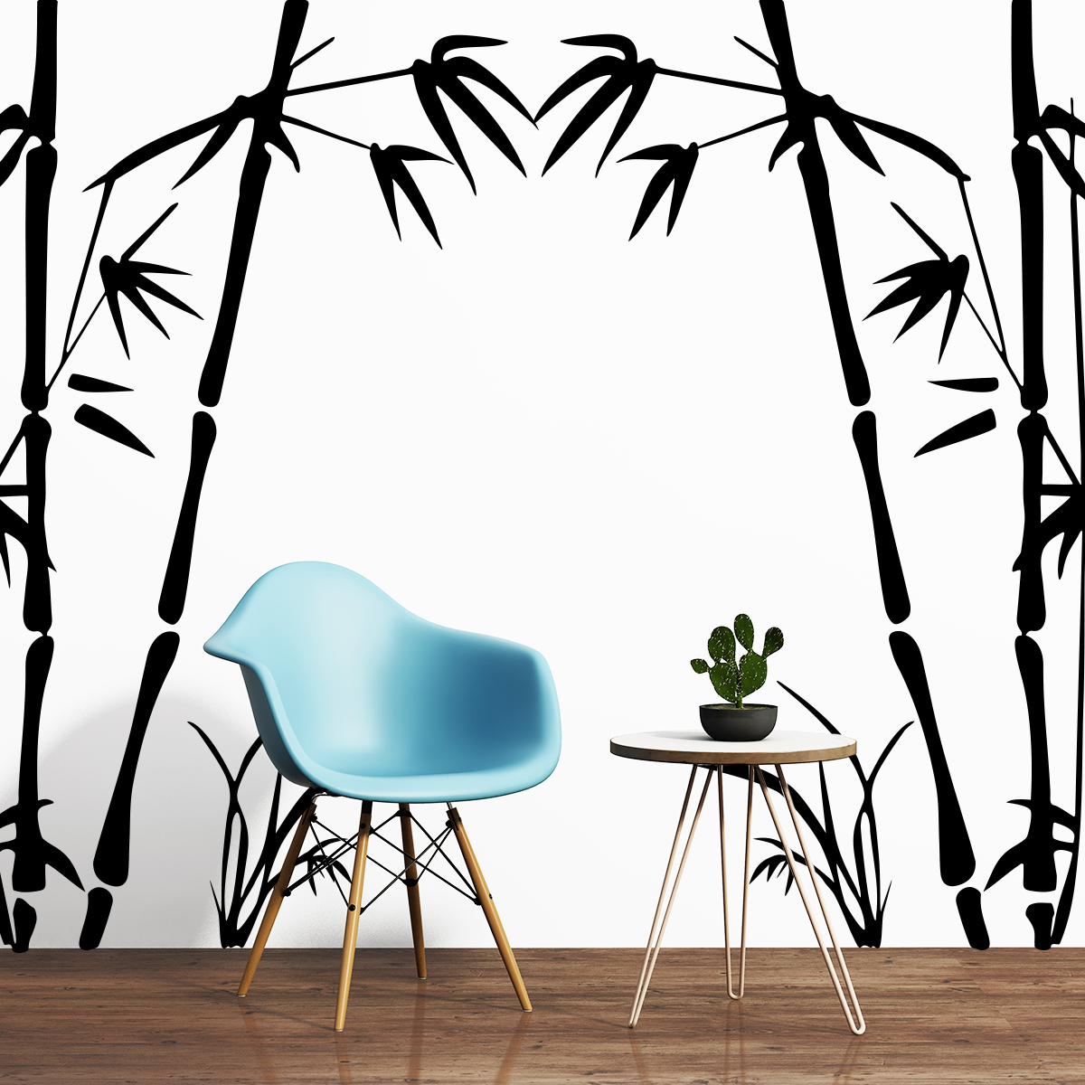 Sticker Bambous Portail Stickers Nature Arbres Ambiance Sticker