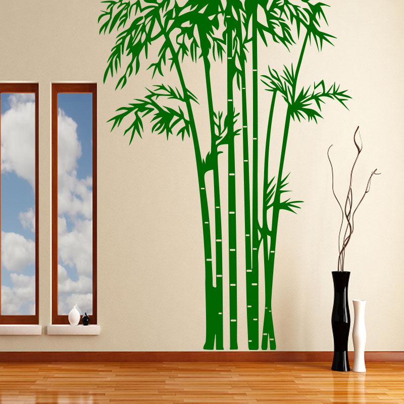 sticker bambous sur pieds touffu stickers nature bambous ambiance sticker. Black Bedroom Furniture Sets. Home Design Ideas