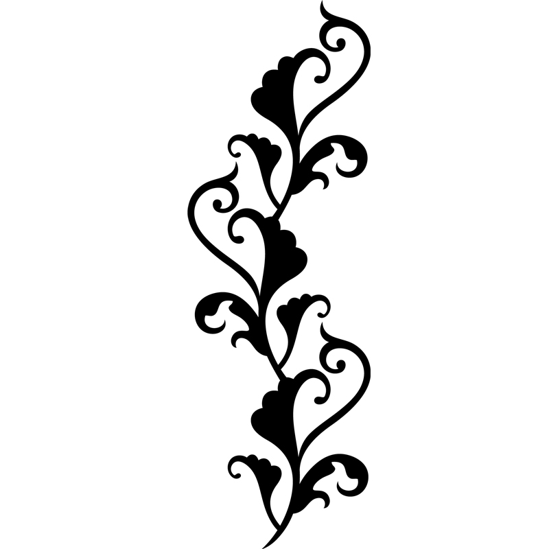 sticker baroque fleur rampante stickers art et design artistiques ambiance sticker. Black Bedroom Furniture Sets. Home Design Ideas