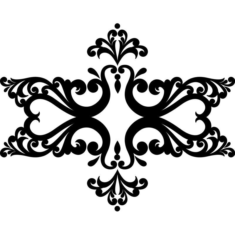 sticker baroque hexagone stickers art et design baroque ambiance sticker. Black Bedroom Furniture Sets. Home Design Ideas