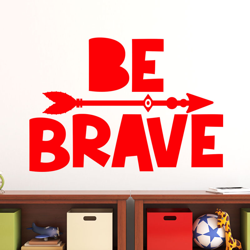Sticker be brave stickers chambre ado gar on ambiance for Stickers muraux chambre ado garcon