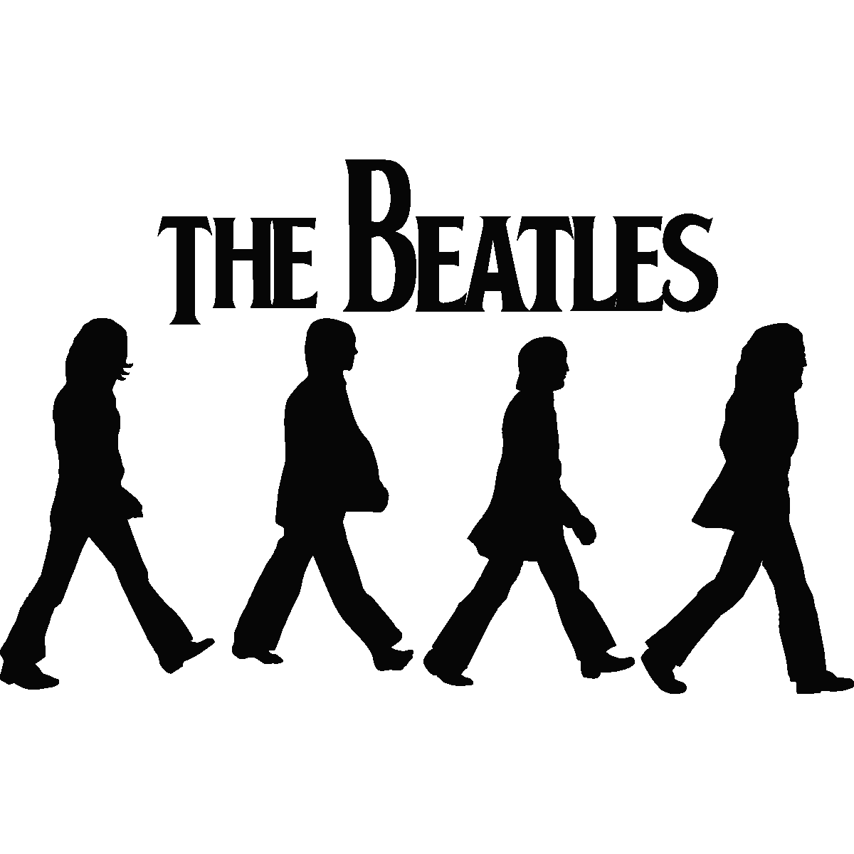 Line Drawing In Html : Stickers muraux musique sticker beatles abbey road