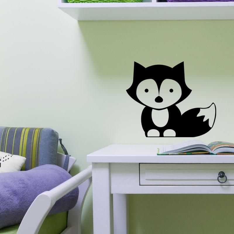 sticker b b renard stickers salle de jeux animaux ambiance sticker. Black Bedroom Furniture Sets. Home Design Ideas
