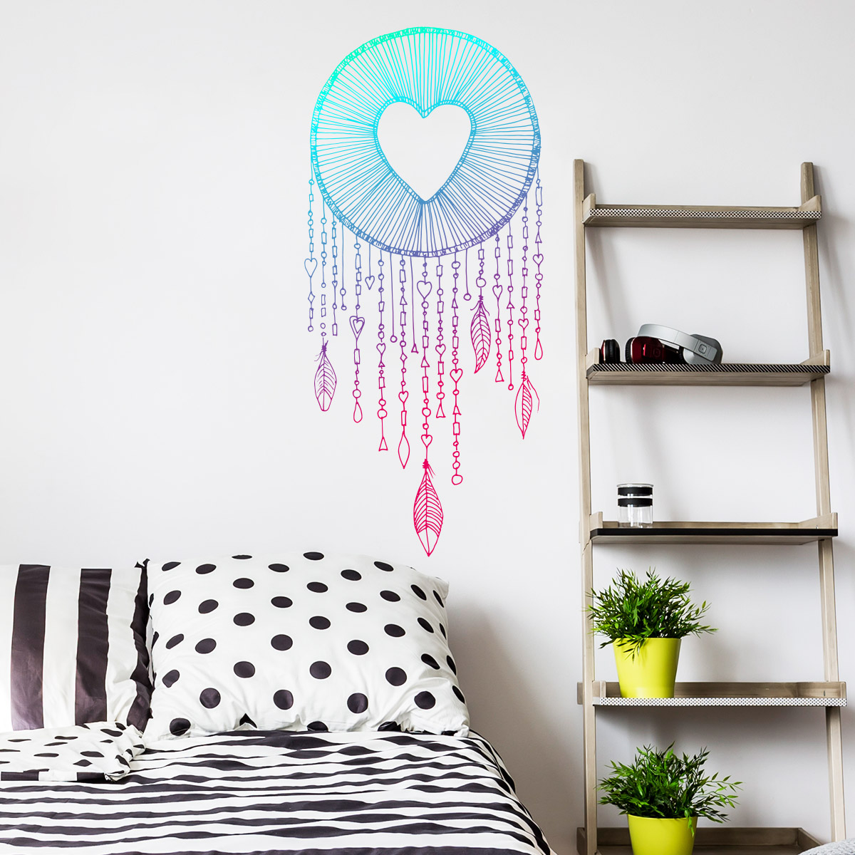 sticker boh me attrape r ves c ur stickers chambre t tes de lit ambiance sticker. Black Bedroom Furniture Sets. Home Design Ideas