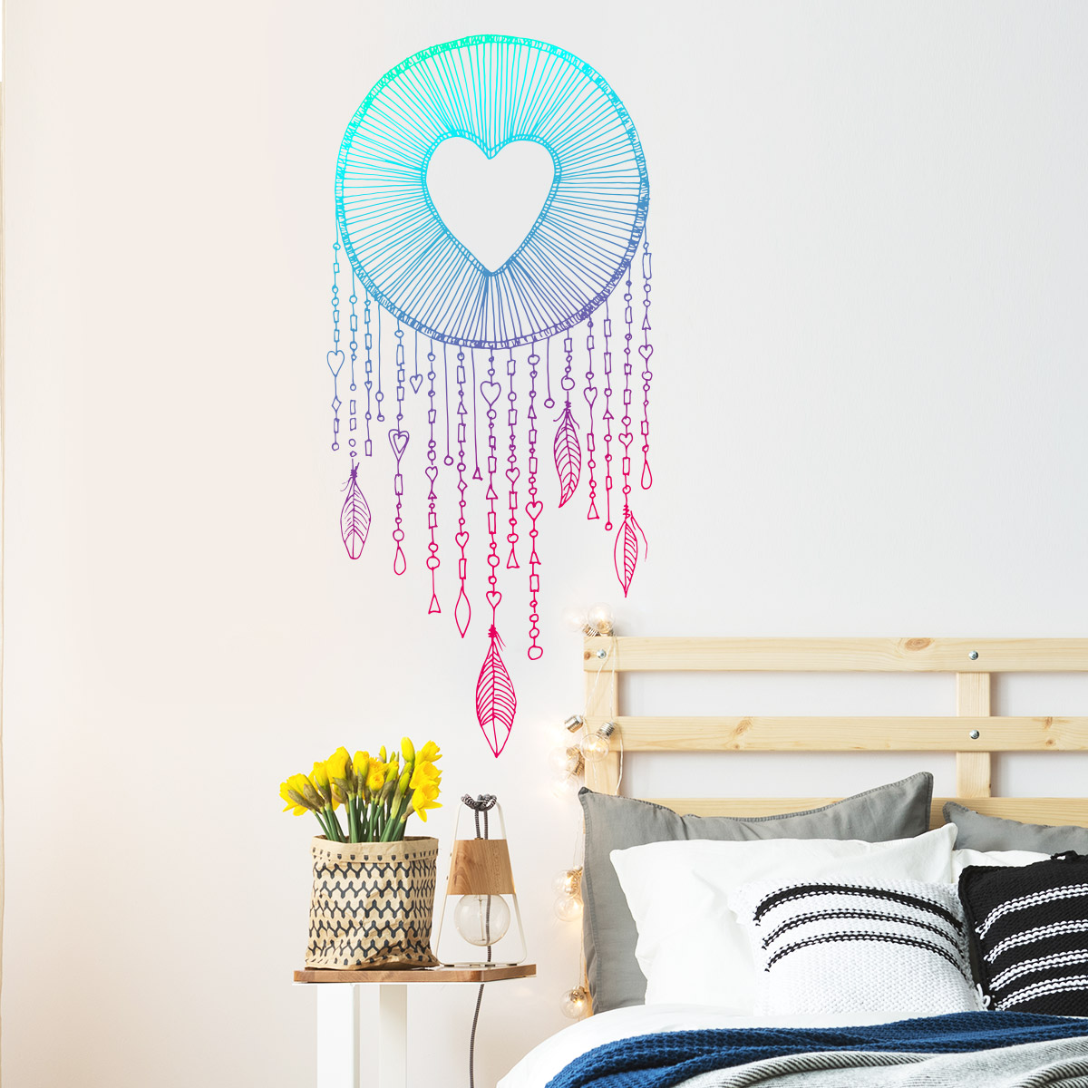 sticker boh me attrape r ves c ur stickers chambre t tes. Black Bedroom Furniture Sets. Home Design Ideas