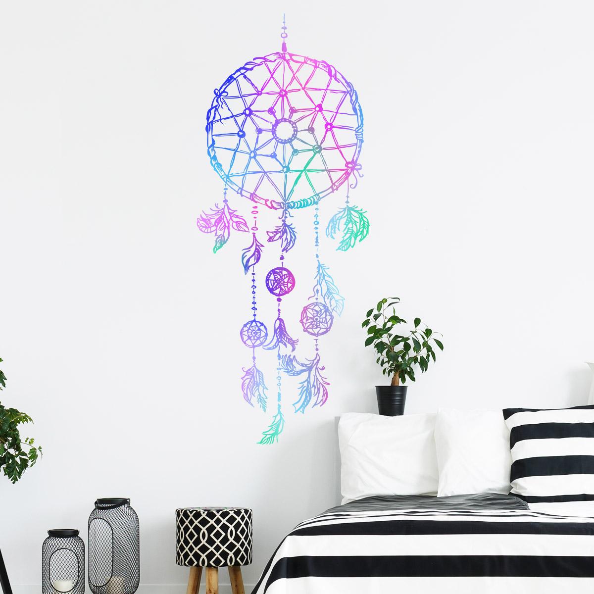 sticker boh me attrape r ves toile stickers chambre. Black Bedroom Furniture Sets. Home Design Ideas