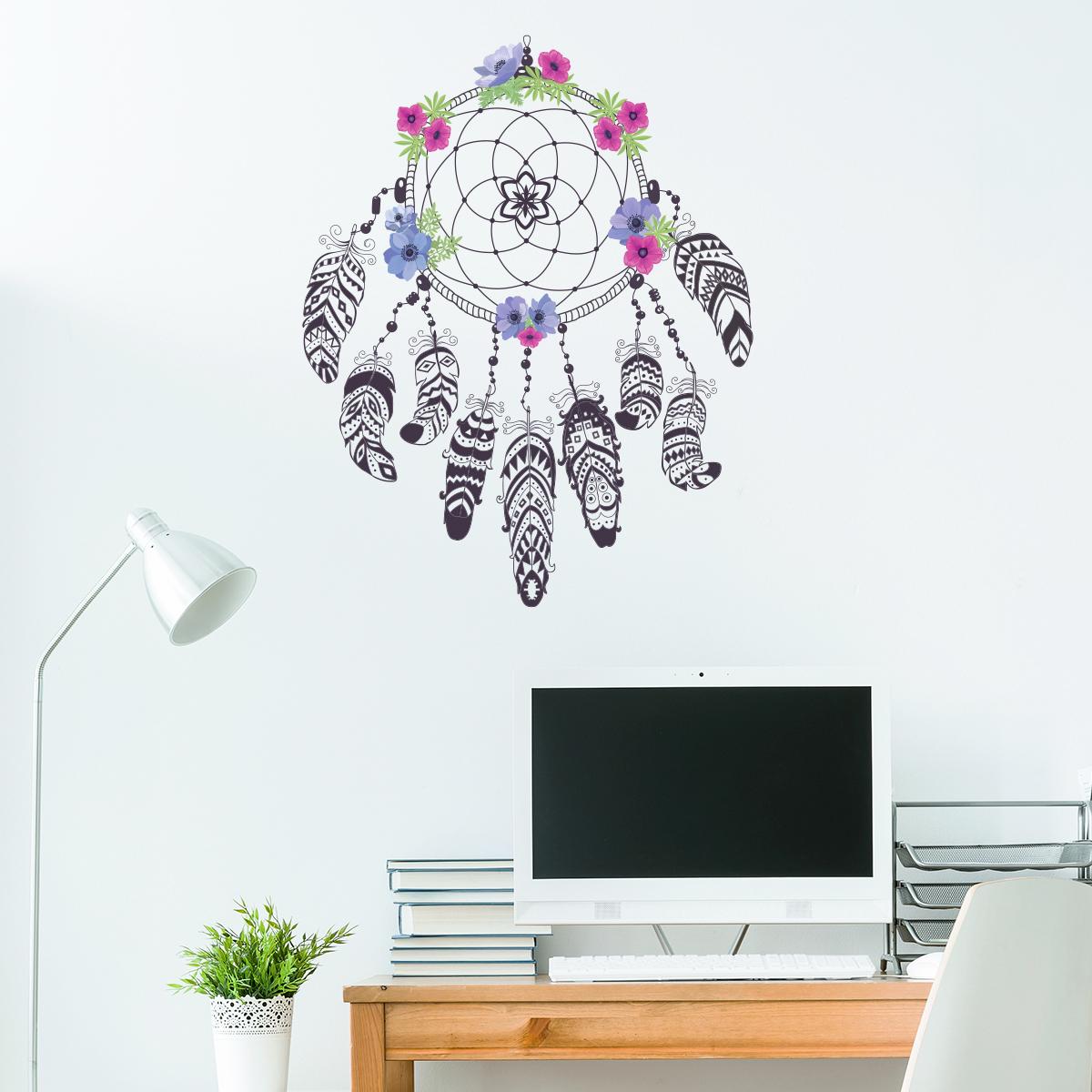 sticker boh me attrape r ves fleurie stickers nature. Black Bedroom Furniture Sets. Home Design Ideas
