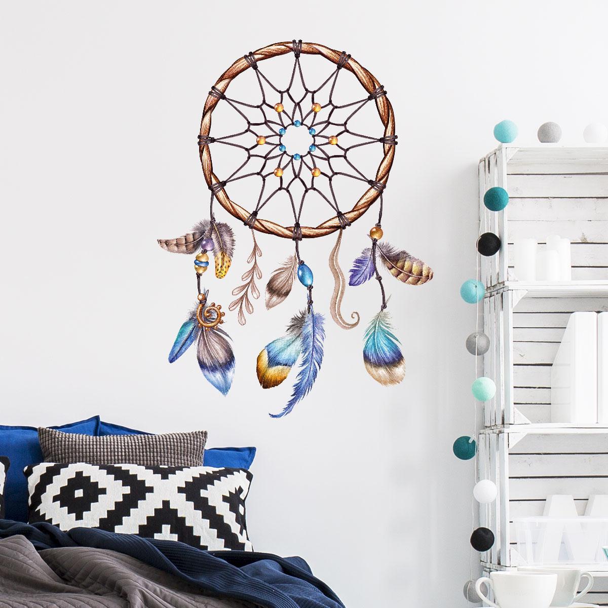 sticker boh me attrape r ves indien stickers chambre ado fille ambiance sticker. Black Bedroom Furniture Sets. Home Design Ideas