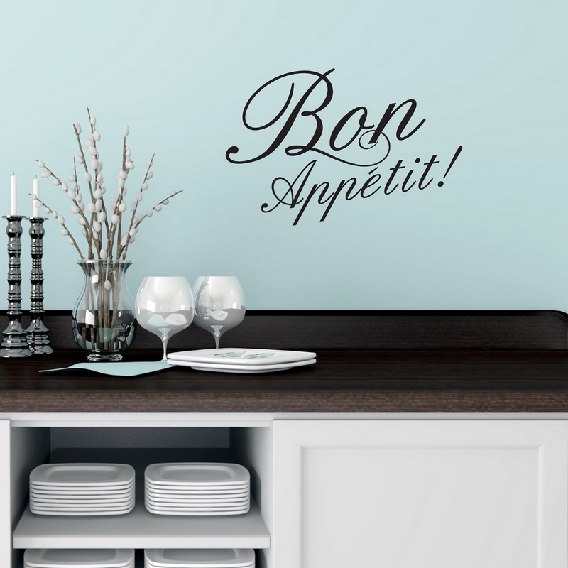 Sticker bon appetit stickers muraux pour la cuisine for Stickers cuisine design