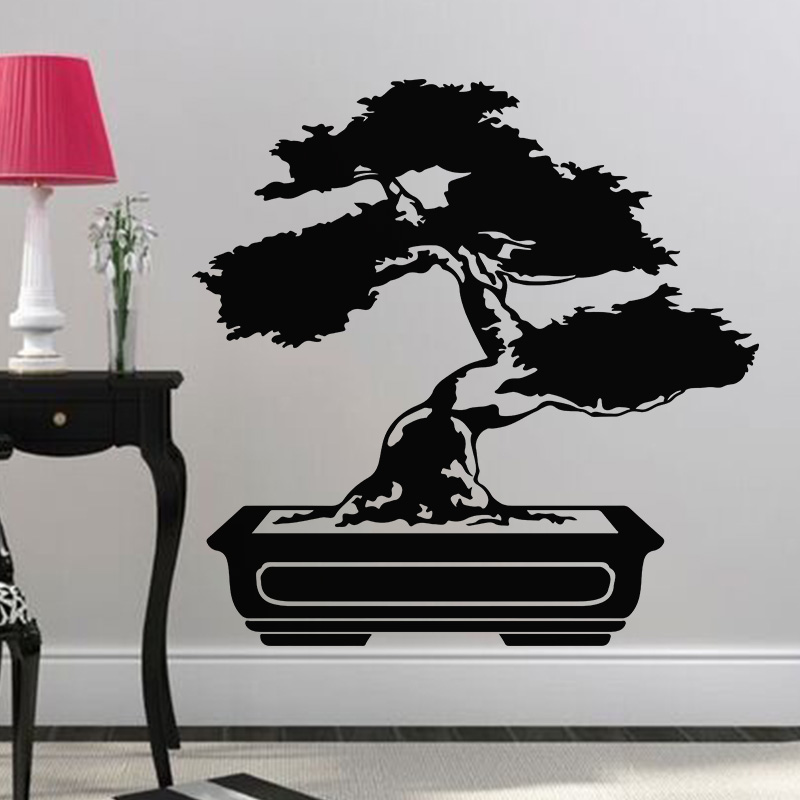 sticker bonsa contemporain stickers art et design artistiques ambiance sticker. Black Bedroom Furniture Sets. Home Design Ideas