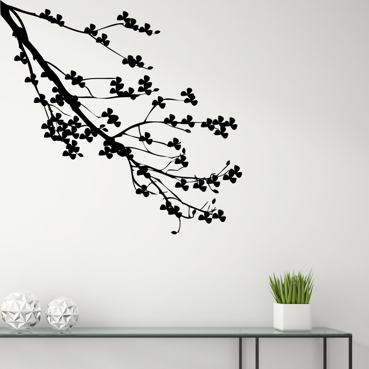 sticker branche d 39 arbre fleuri stickers nature arbres ambiance sticker. Black Bedroom Furniture Sets. Home Design Ideas