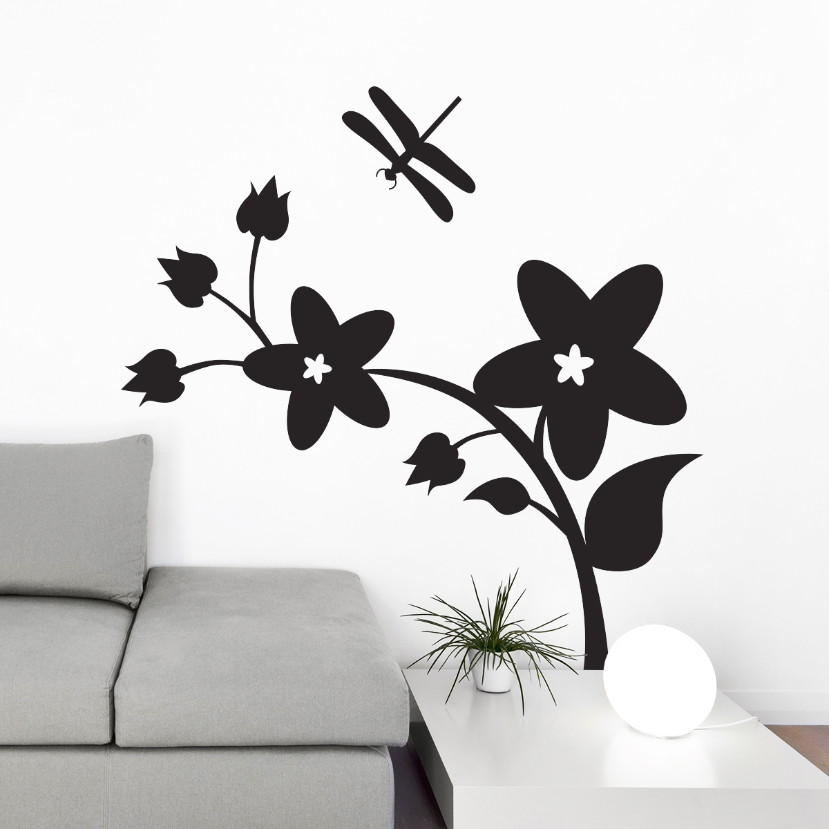 stickers muraux avec une branche d 39 arbre. Black Bedroom Furniture Sets. Home Design Ideas