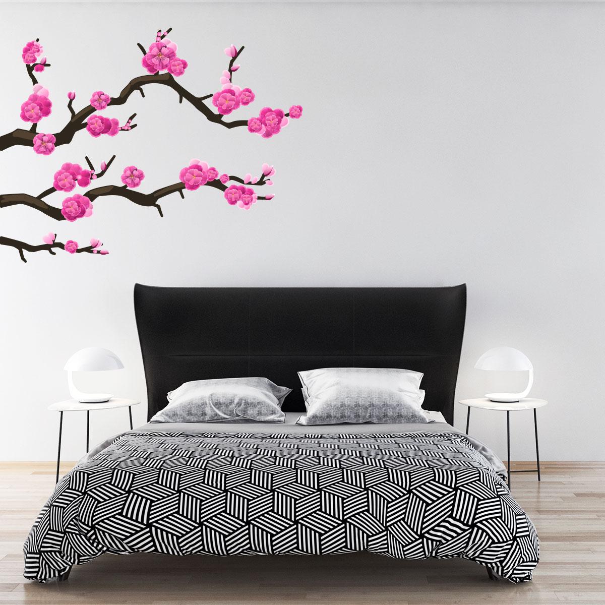 Sticker branches cerisier du japon stickers villes et for Chambre design japonais