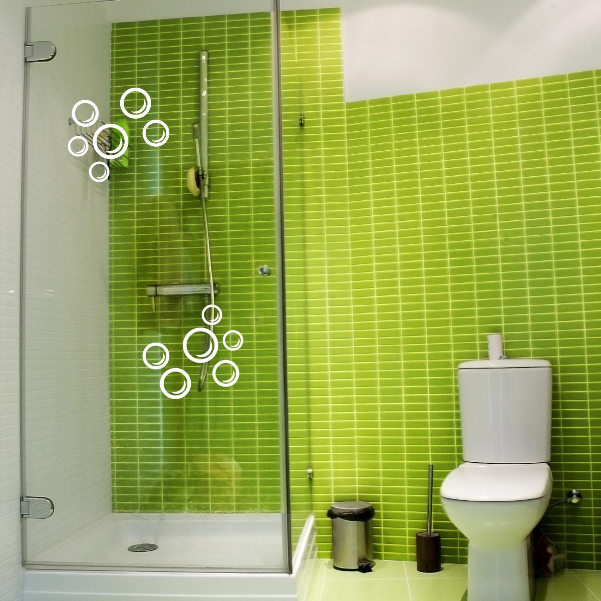 stickers muraux pour salle de bain sticker mural bulles ambiance. Black Bedroom Furniture Sets. Home Design Ideas