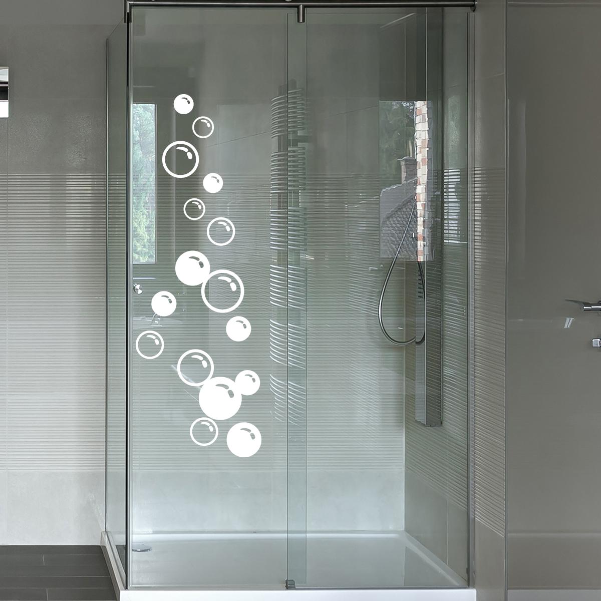 Stickers muraux pour salle de bain sticker mural bulles - Porte savon mural carrelage ...