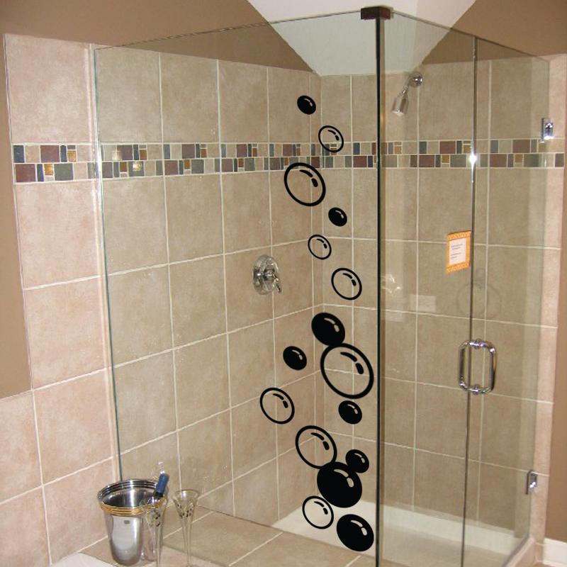 Stickers muraux pour salle de bain sticker mural bulles for Stickers carrelage salle de bain