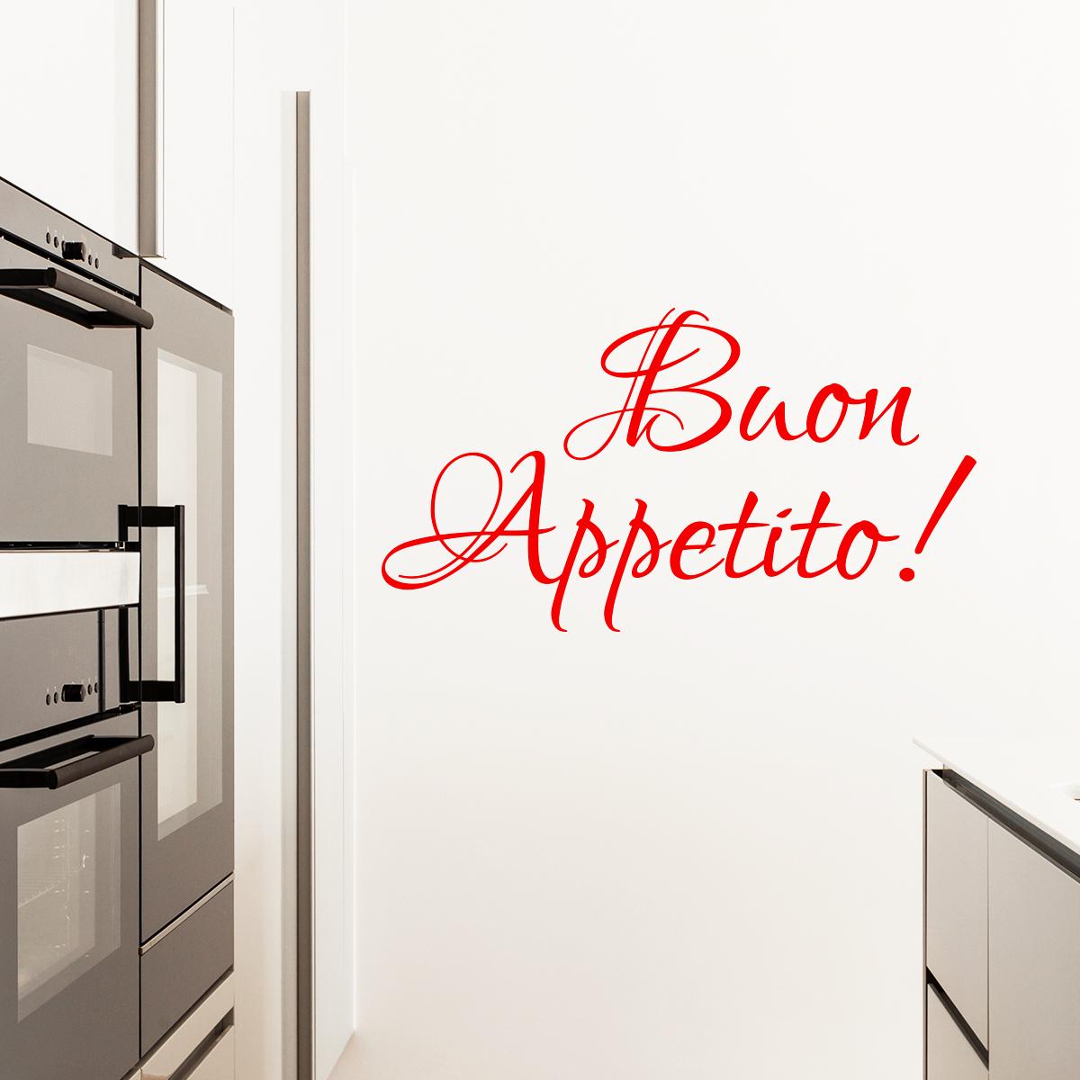 Sticker Buon Appetito Stickers Cuisine Textes Et