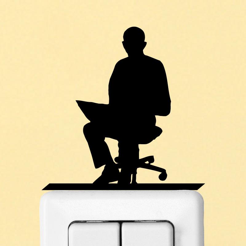 stickers prises et interrupteurs sticker mural bureau homme 1 ambiance. Black Bedroom Furniture Sets. Home Design Ideas