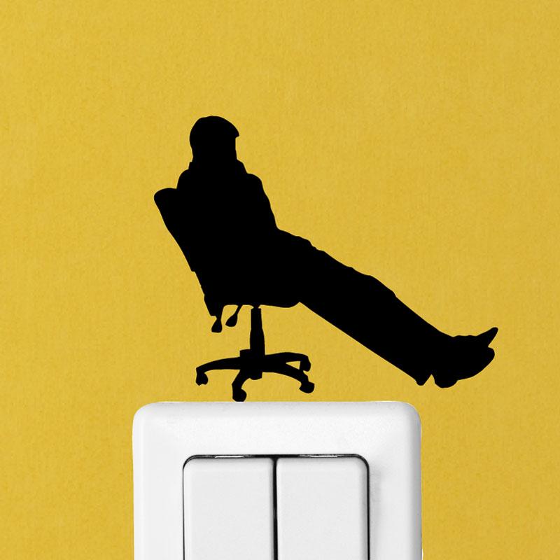 stickers prises et interrupteurs sticker mural bureau homme 2 ambiance. Black Bedroom Furniture Sets. Home Design Ideas