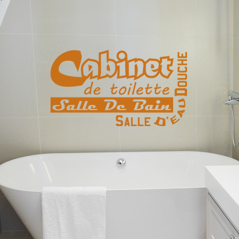 Sticker cabinet de toilette salle de bain stickers for Toilette et salle de bain