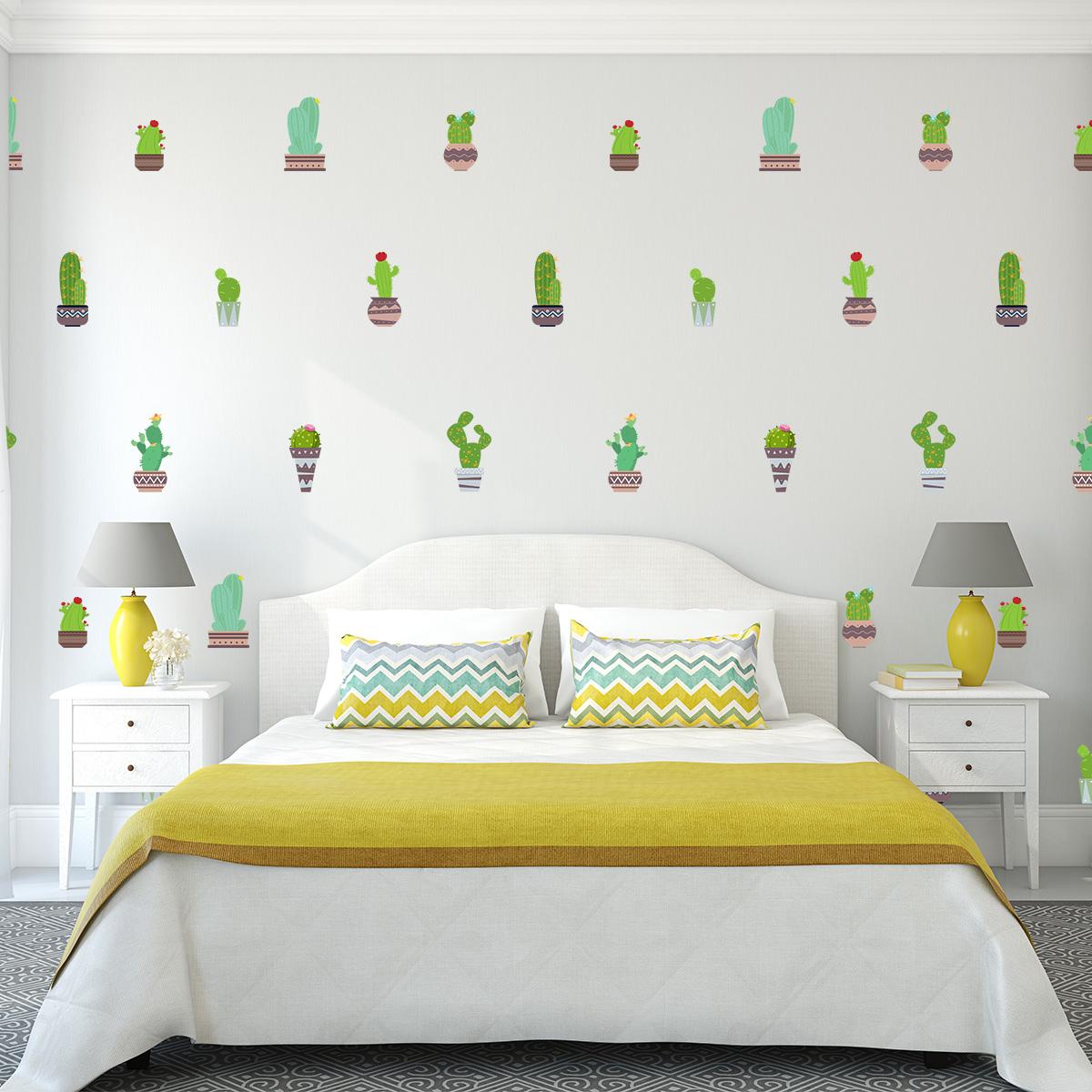 sticker cactus originaux stickers nature fleurs ambiance sticker. Black Bedroom Furniture Sets. Home Design Ideas