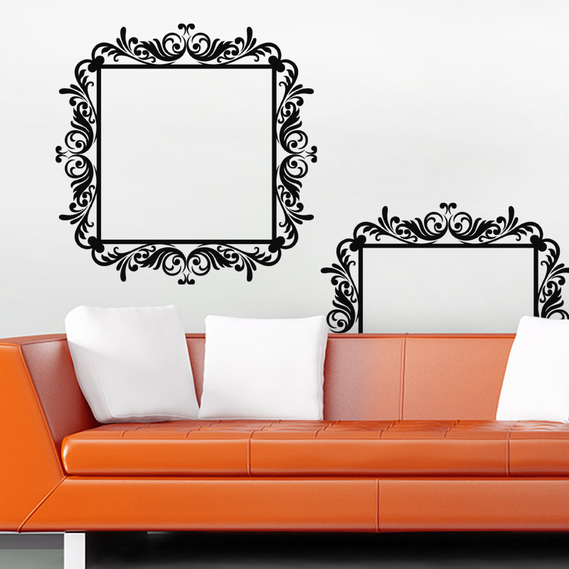 Stickers muraux baroque sticker baroque sur un cadre - Stickers baroque pour meuble ...