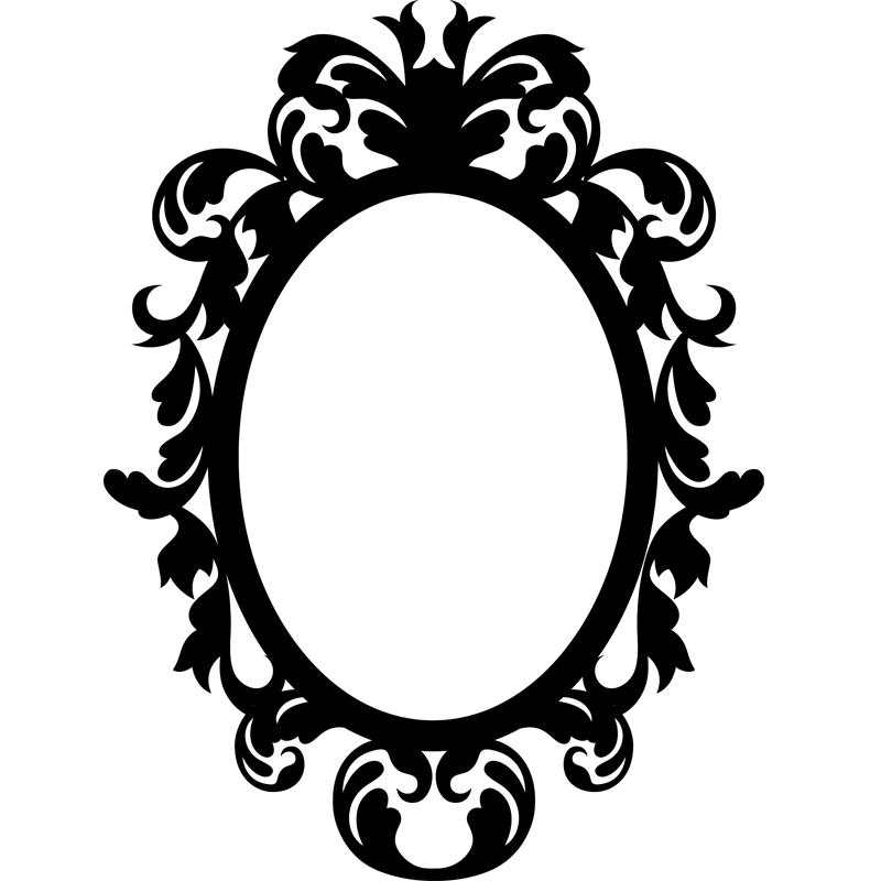 Stickers muraux baroque sticker baroque sur un cercle - Stickers baroque pour meuble ...