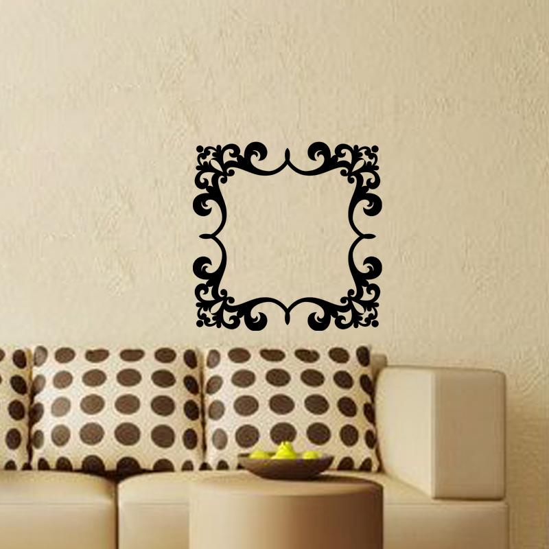 stickers muraux design sticker mural cadre fleur. Black Bedroom Furniture Sets. Home Design Ideas