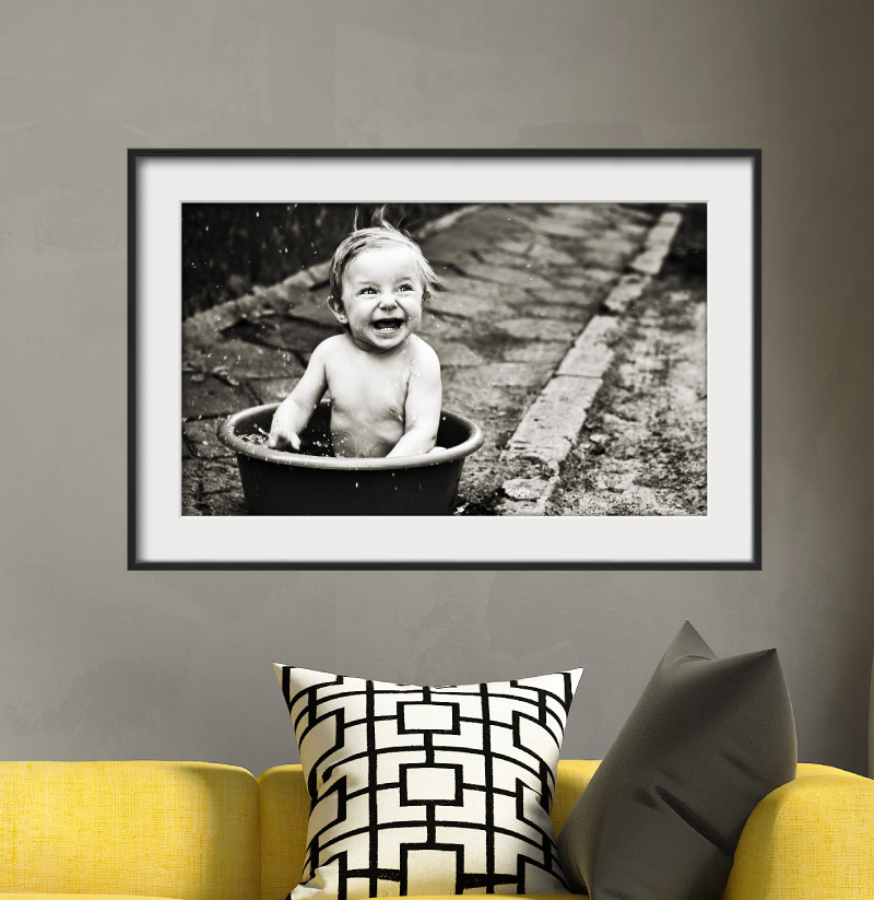 Sticker cadre photo l 39 enfant rieur stickers art et design artistiques ambiance sticker - Style cadre photo ambiance ...