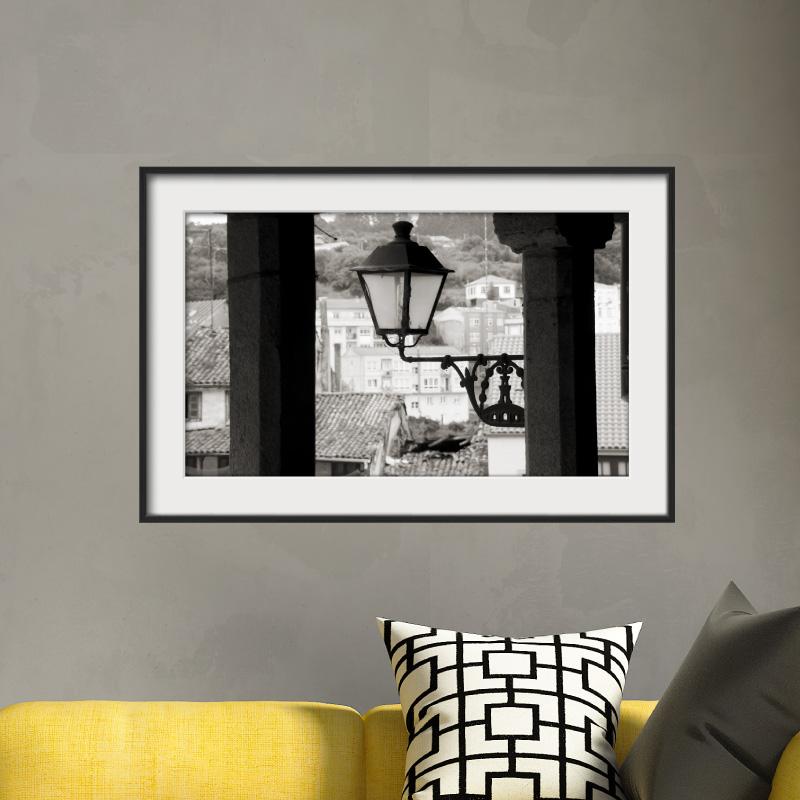 sticker cadre photo la lumi re du village stickers art et design artistiques ambiance sticker. Black Bedroom Furniture Sets. Home Design Ideas