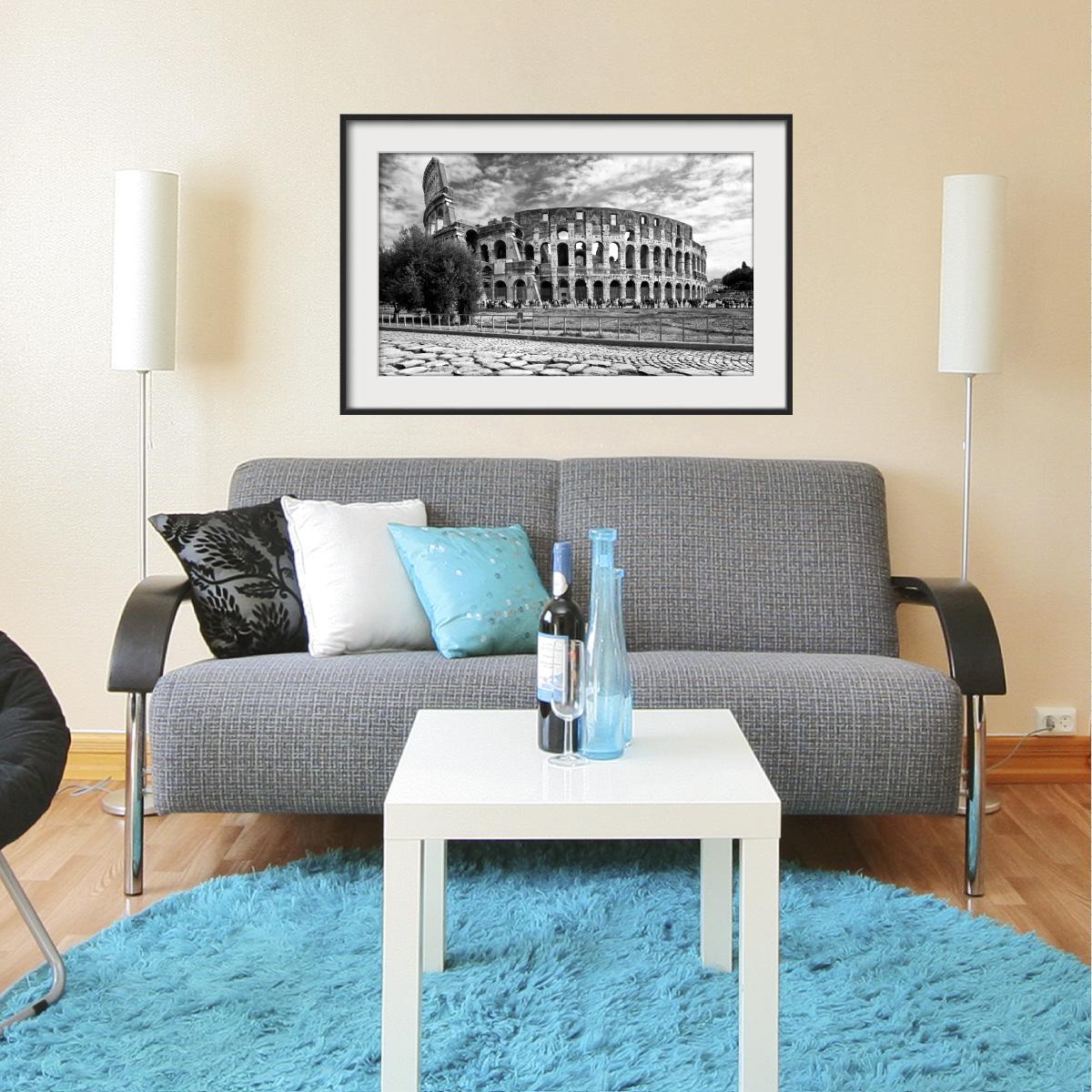 sticker cadre photo le colis e de rome stickers villes et voyages pays et voyages ambiance. Black Bedroom Furniture Sets. Home Design Ideas